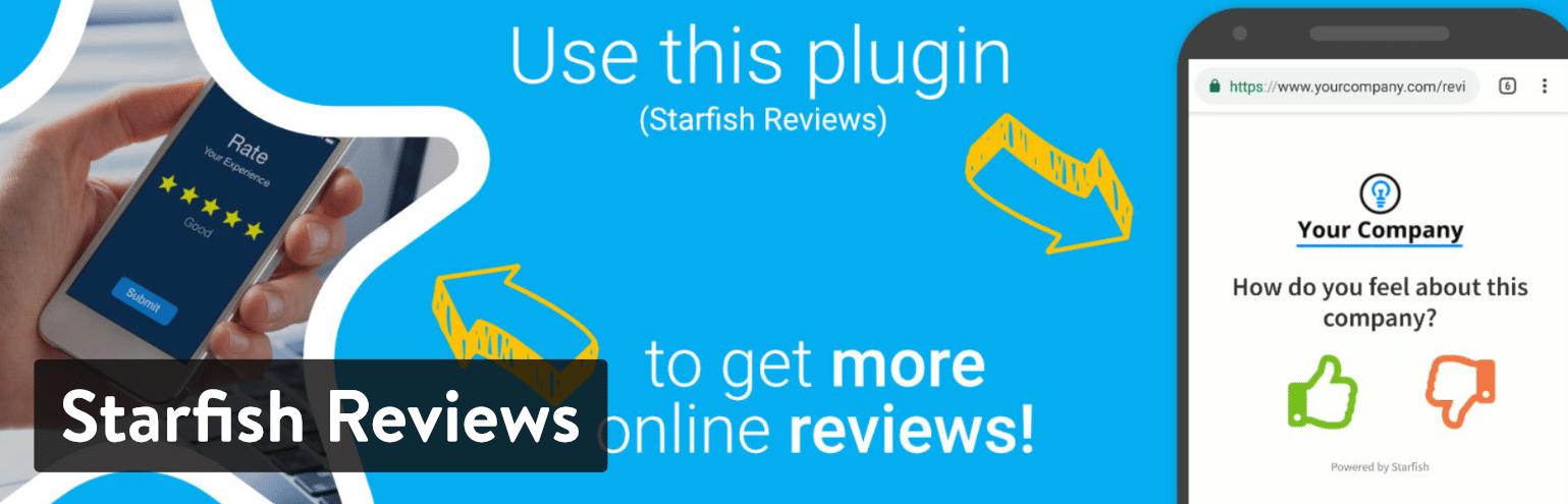 Los Mejores Plugins de Reseñas para WordPress: Starfish Reviews