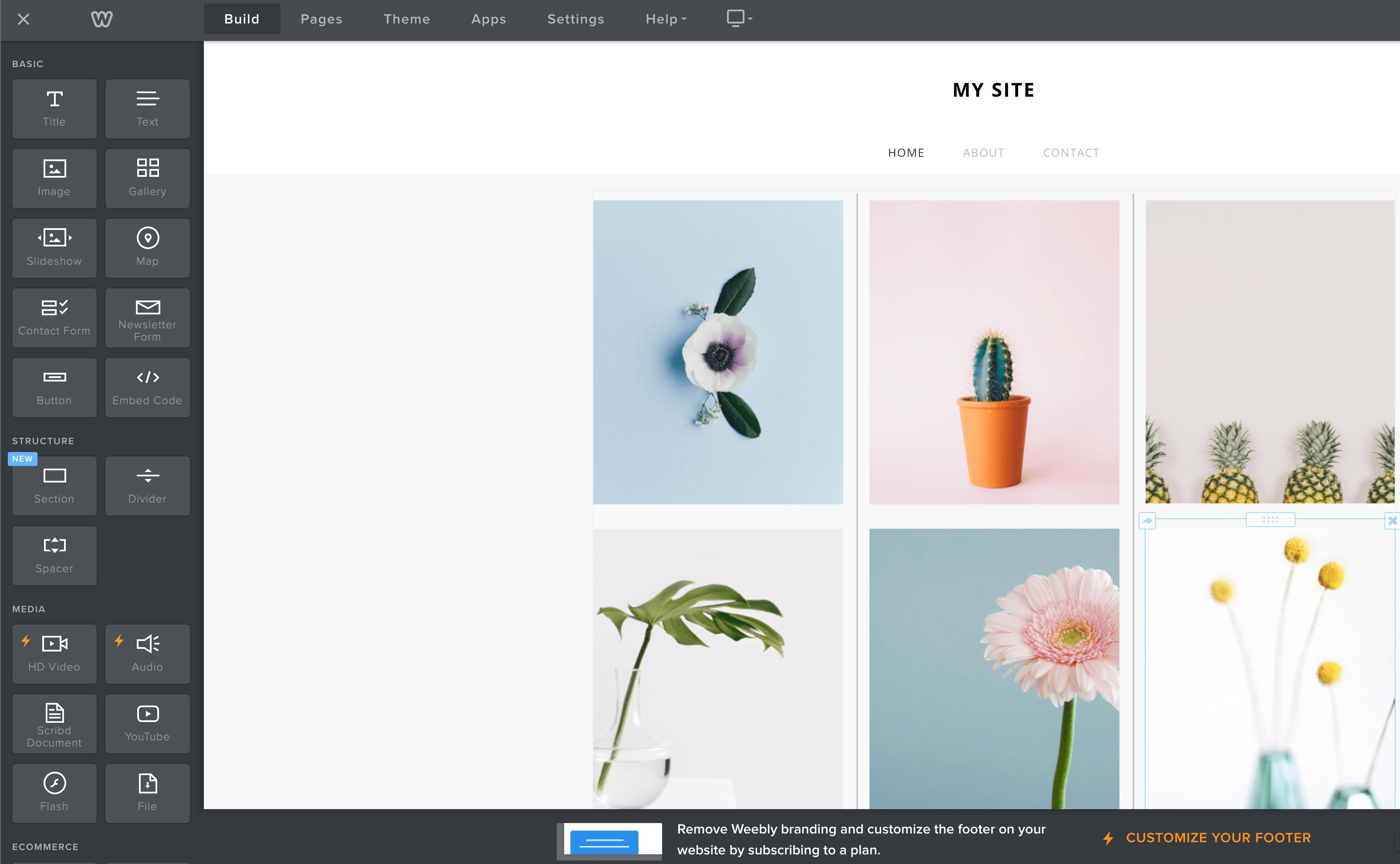 Creación del sitio Weebly