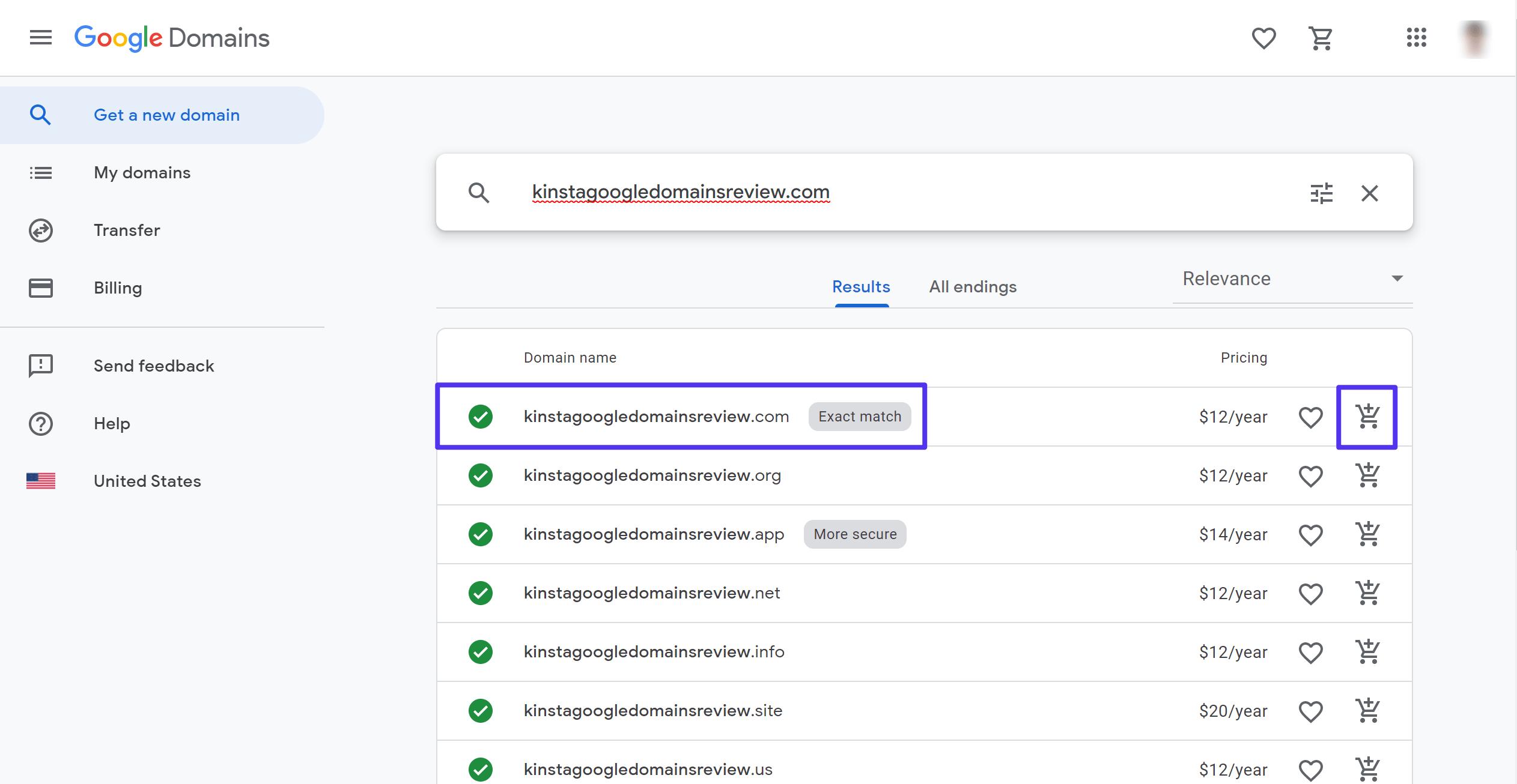 Comprobar la disponibilidad del dominio