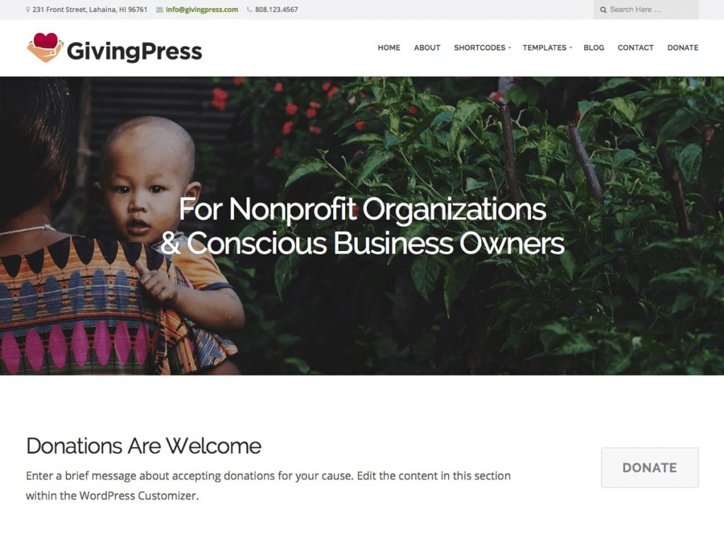 GivingPress Lite tema