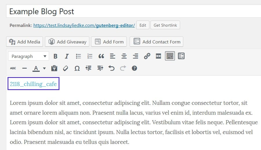 Subir un archivo HTML en Classic Editor