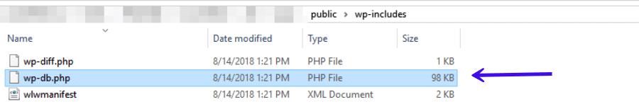 El archivo wp-db.php