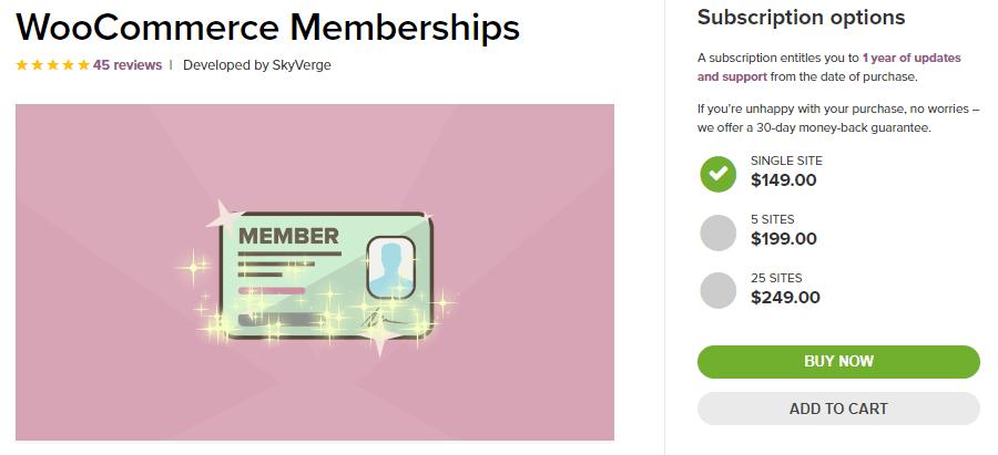 La extensión de las Membresías WooCommerce