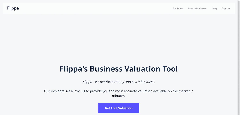 Calculadora de valor del sitio web de Flippa