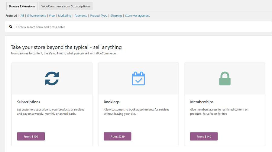 Extensiones de WooCommerce