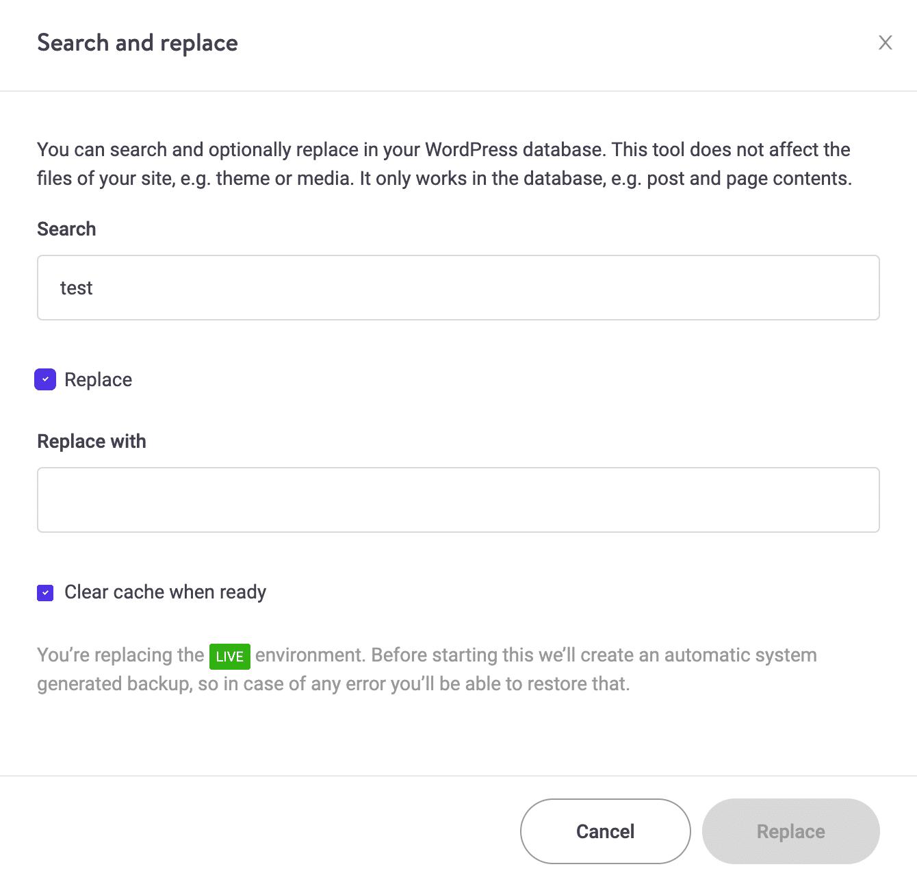 Nueva herramienta de búsqueda y reemplazo