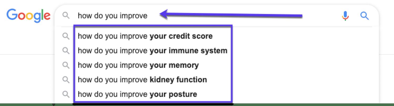 Uso del autocompletado de Google para la investigación de palabras clave