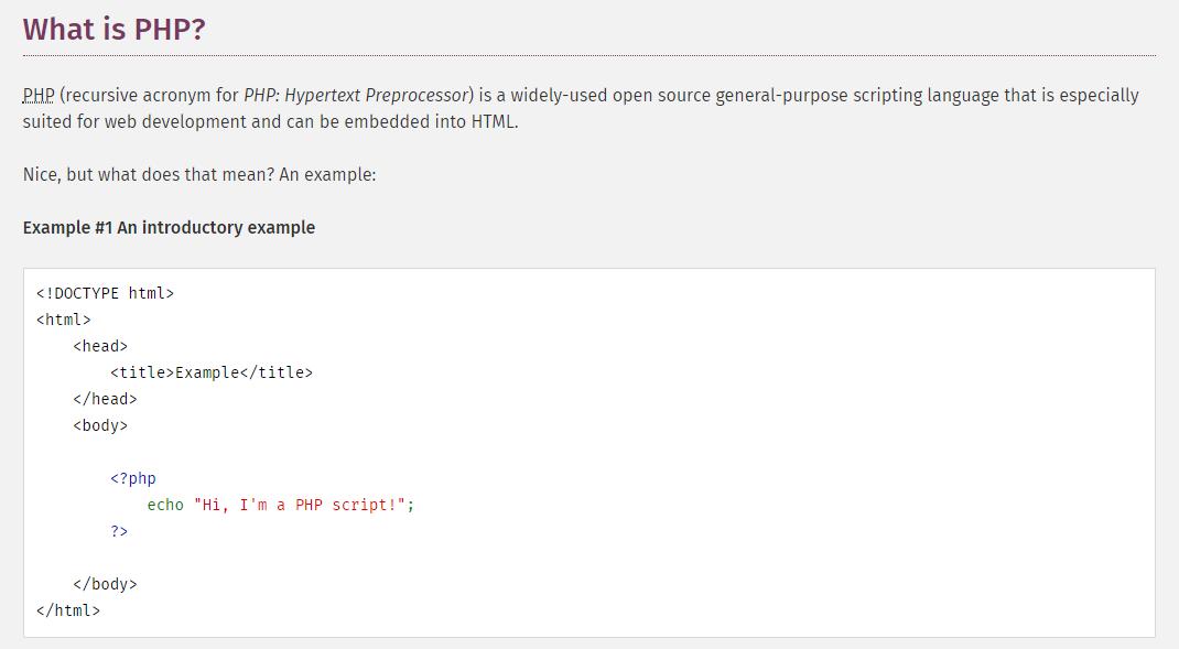 Manual oficial de PHP