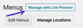 La opción Administrar con vista previa en vivo
