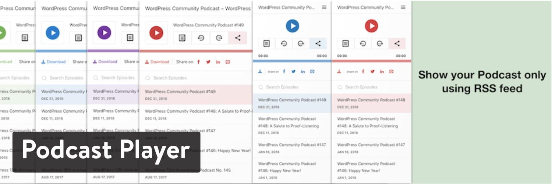 Reproductor de podcast Plugin de WordPress