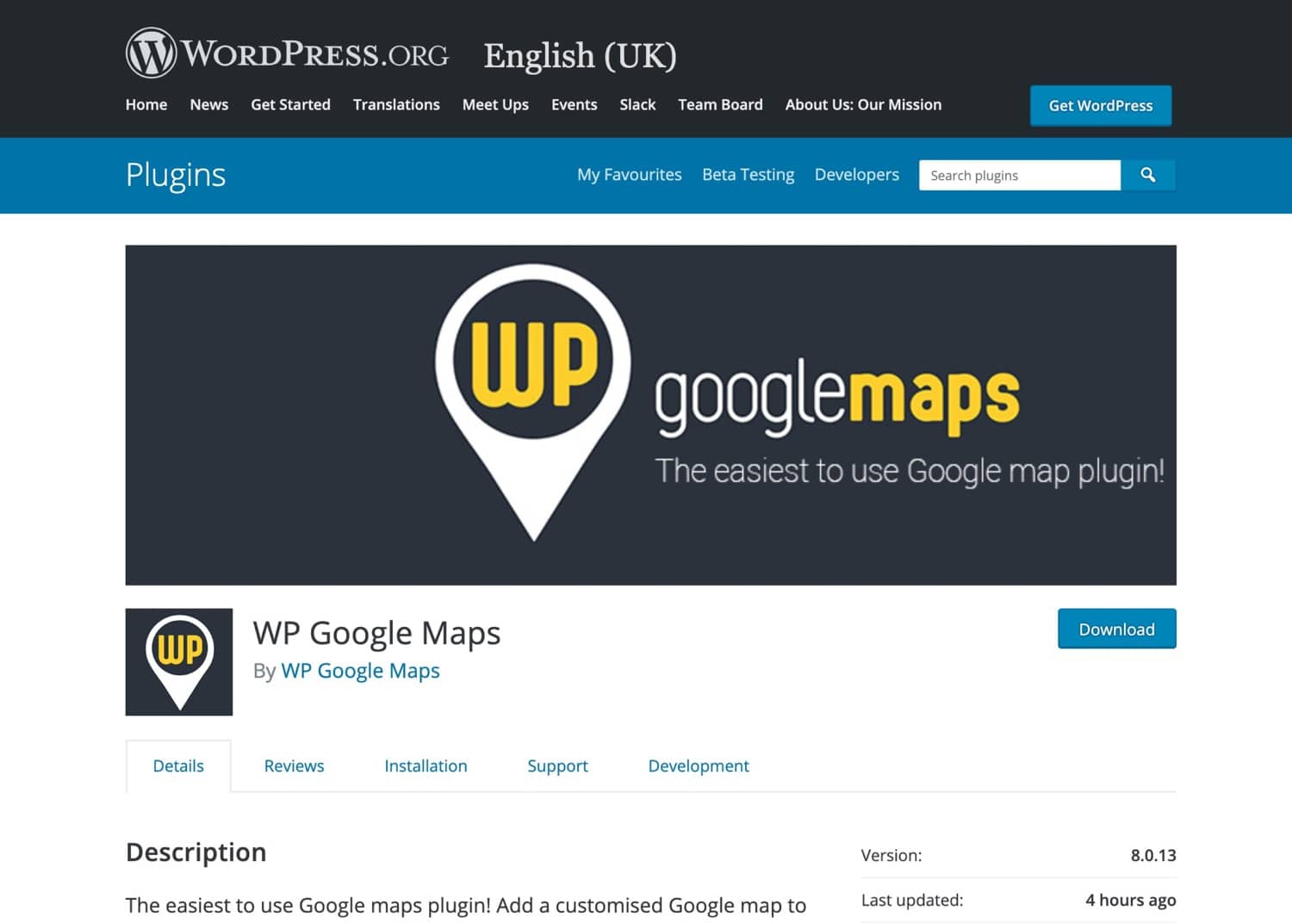 Plugin de WP Google Maps