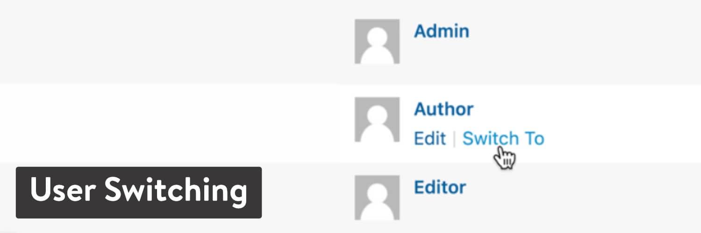 User Switching plugin de WordPress