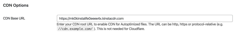 Configure los ajustes de CDN en Autoptimización.