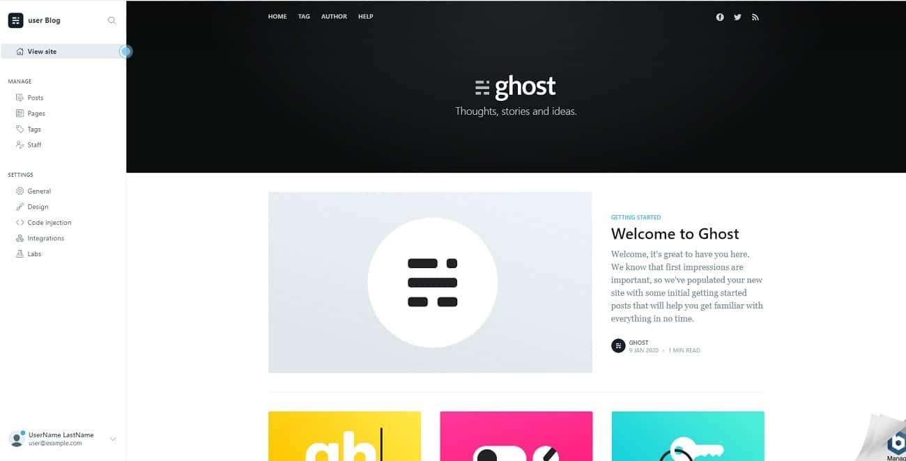 Interfaz Ghost