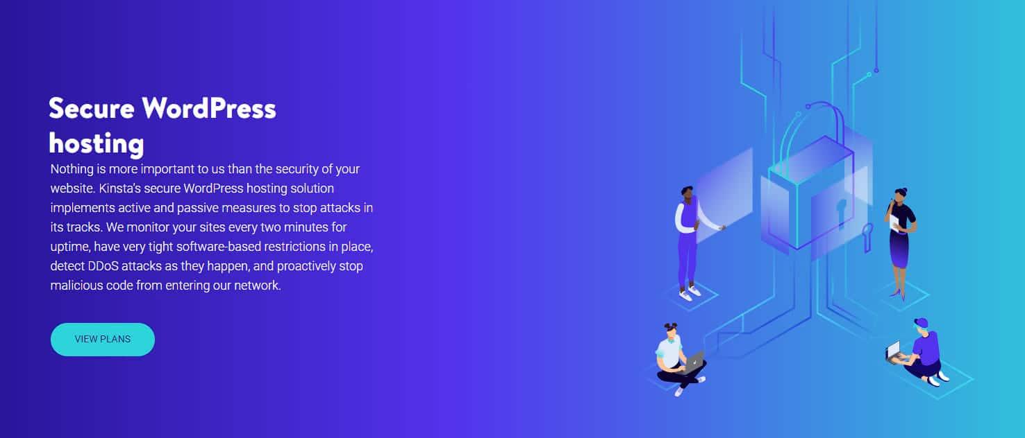 Kinsta proporciona medidas activas y pasivas para mejorar la seguridad
