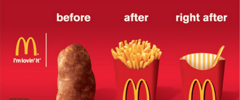 Ejemplo de un anuncio publicitario de McDonald's
