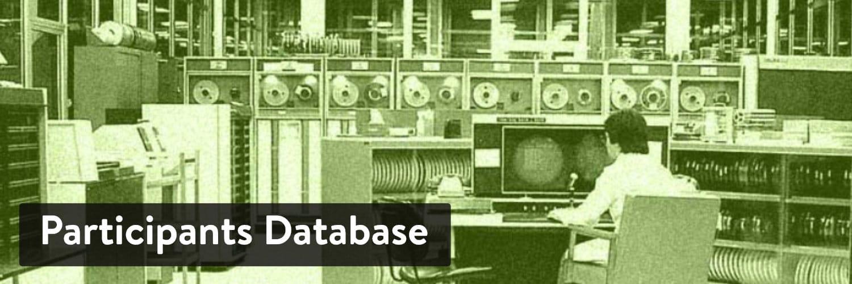 Participants Database WordPress plugin