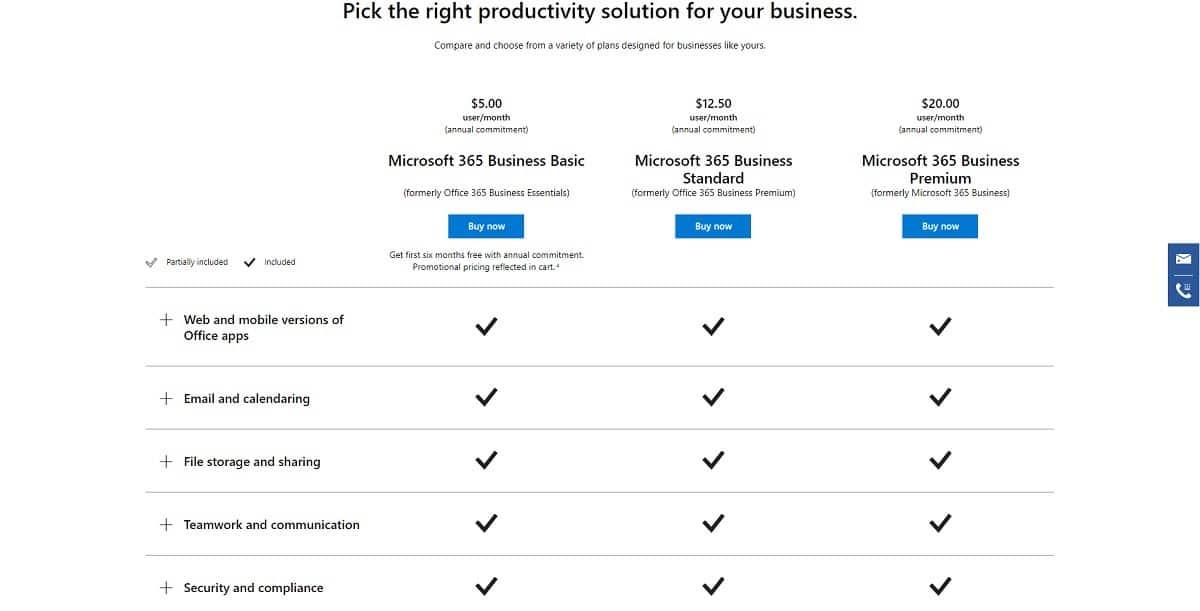 Precios de Microsoft Planner