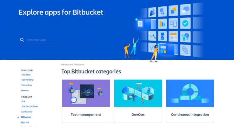 El sitio web Atlassian Marketplace