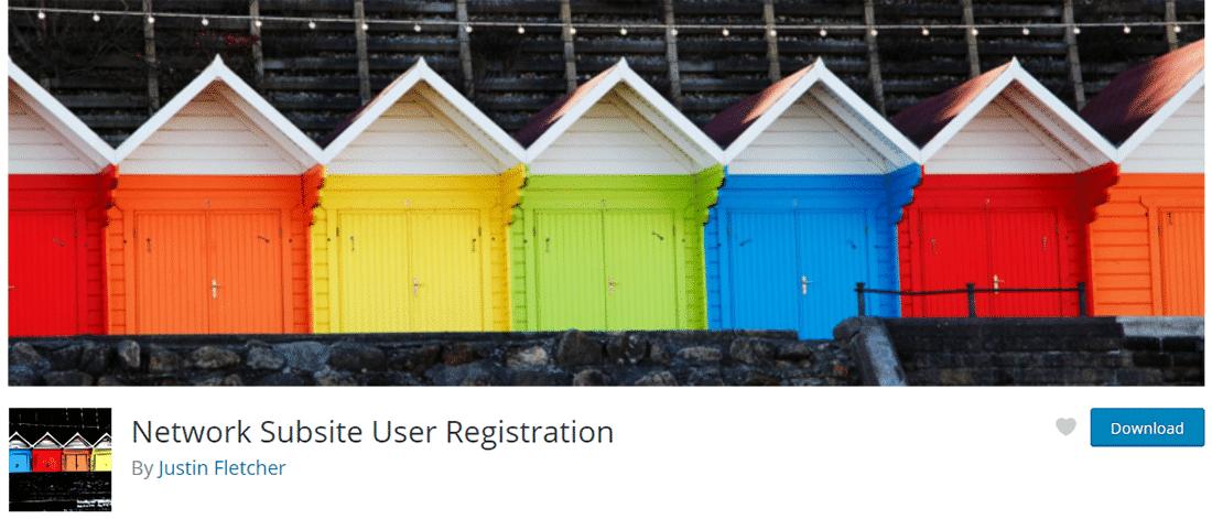 'Network Subsite User Registration' plugin