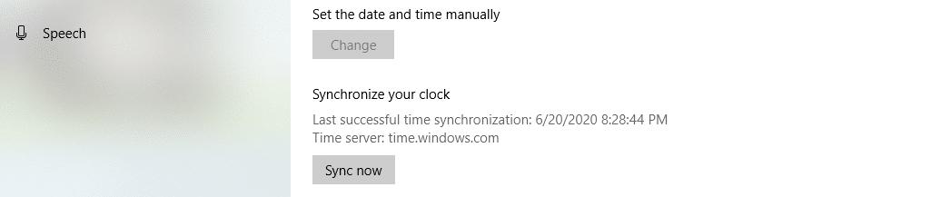 Sincronizar el reloj