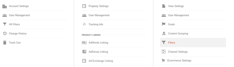 Crear una lista de nombres de host válidos en Google Analytics