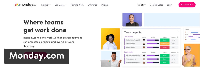 El software de gestión de proyectos de Monday.com con la integración de WooCommerce