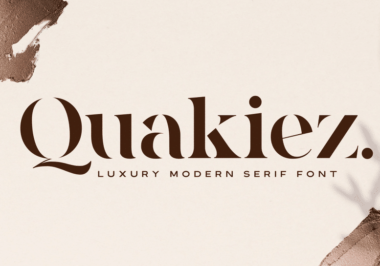 Modern fonts: quakiez