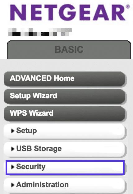 Configuración de seguridad del router