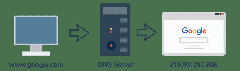 El DNS y las direcciones IP son la guía telefónica de la Web.