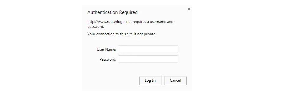 Ejemplo de un aviso de acceso al router
