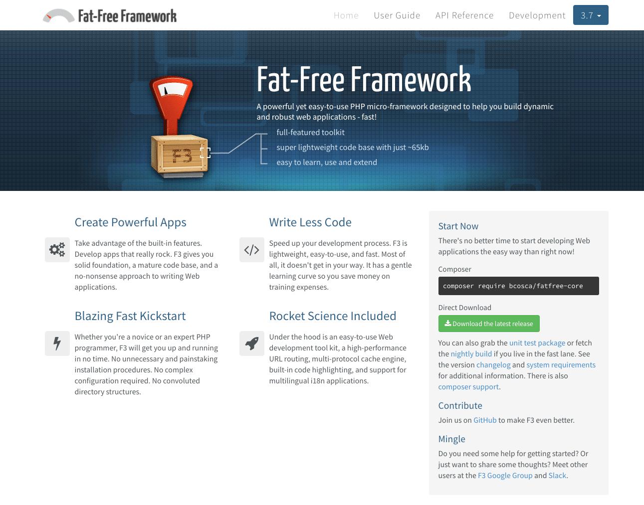 Fat-Free Framework