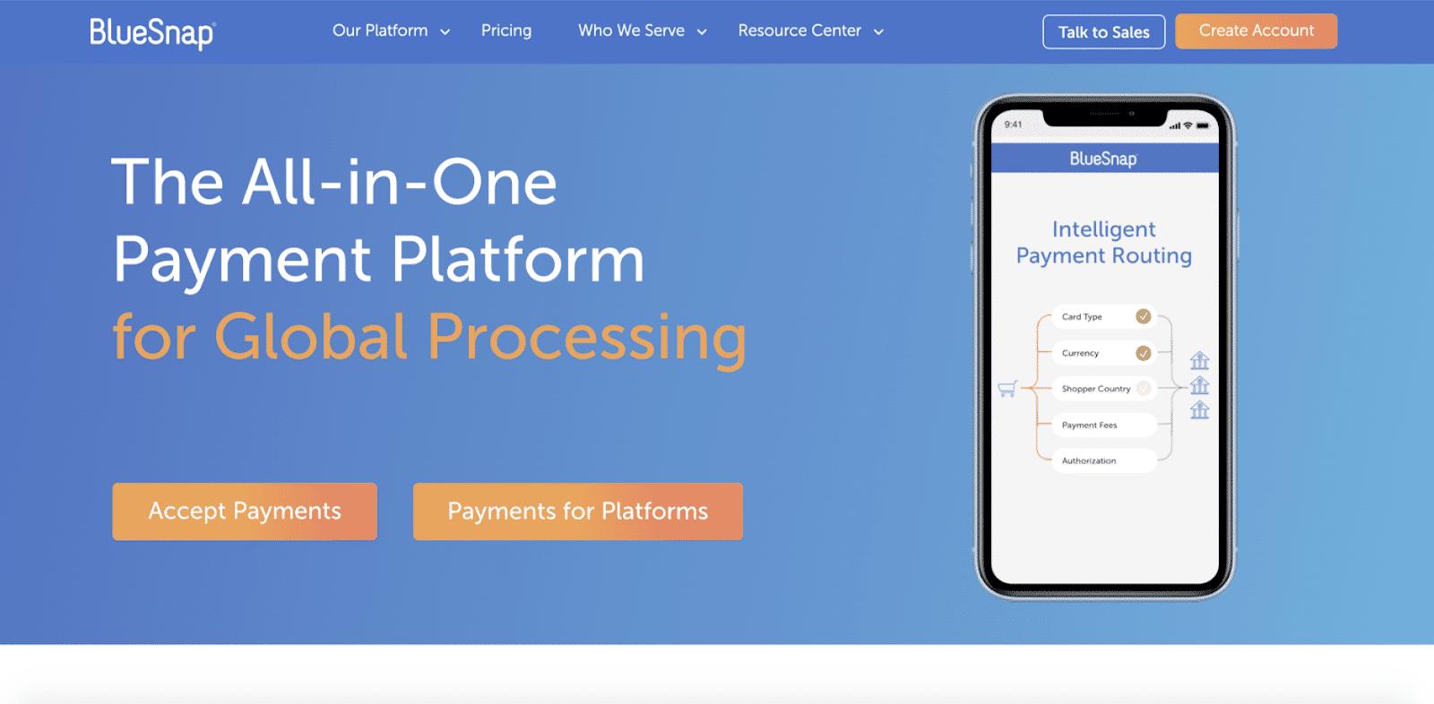 Alternativa de PayPal BlueSnap