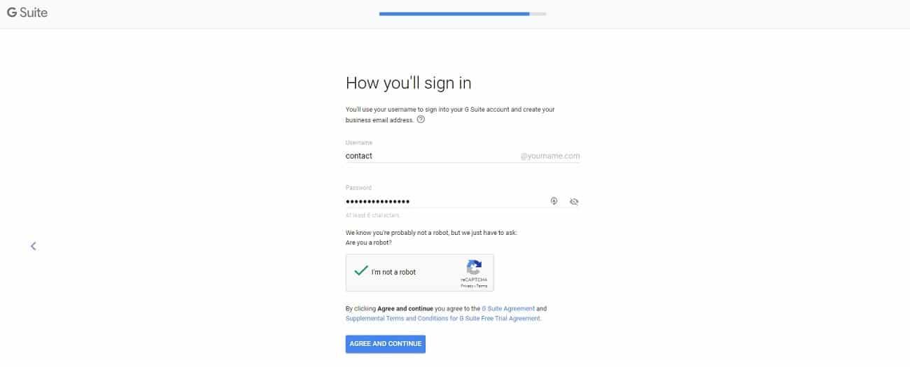 G Suite nueva dirección de correo electrónico creada