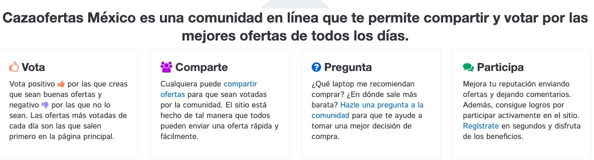 Cazaofertas México es una comunidad en línea que te permite compartir y votar por las mejores ofertas de todos los días.