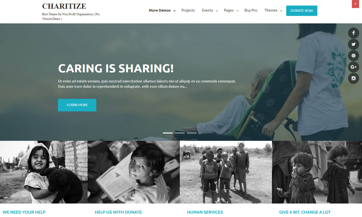 Charitize screenshot