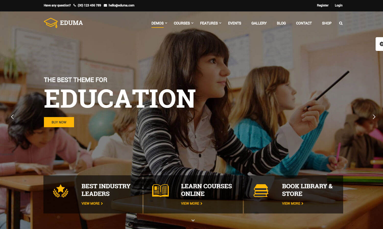 Education WP screenshot