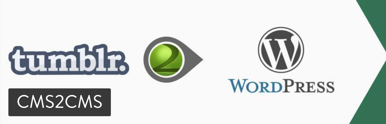 Extension d'importation Tumblr vers WordPress de CMS2CMS