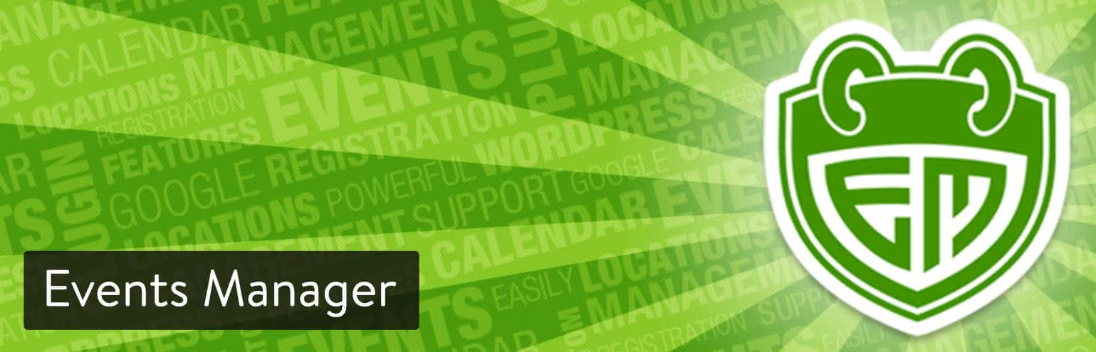 Extension WordPress Events Manager