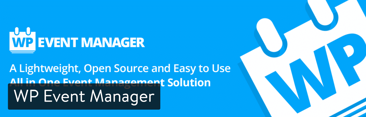 Extension WordPress WP Event Manager