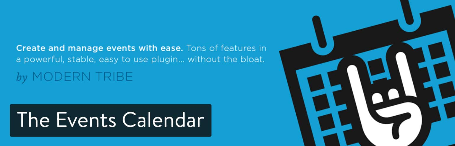 Le plugin The Events Calendar pour WordPress