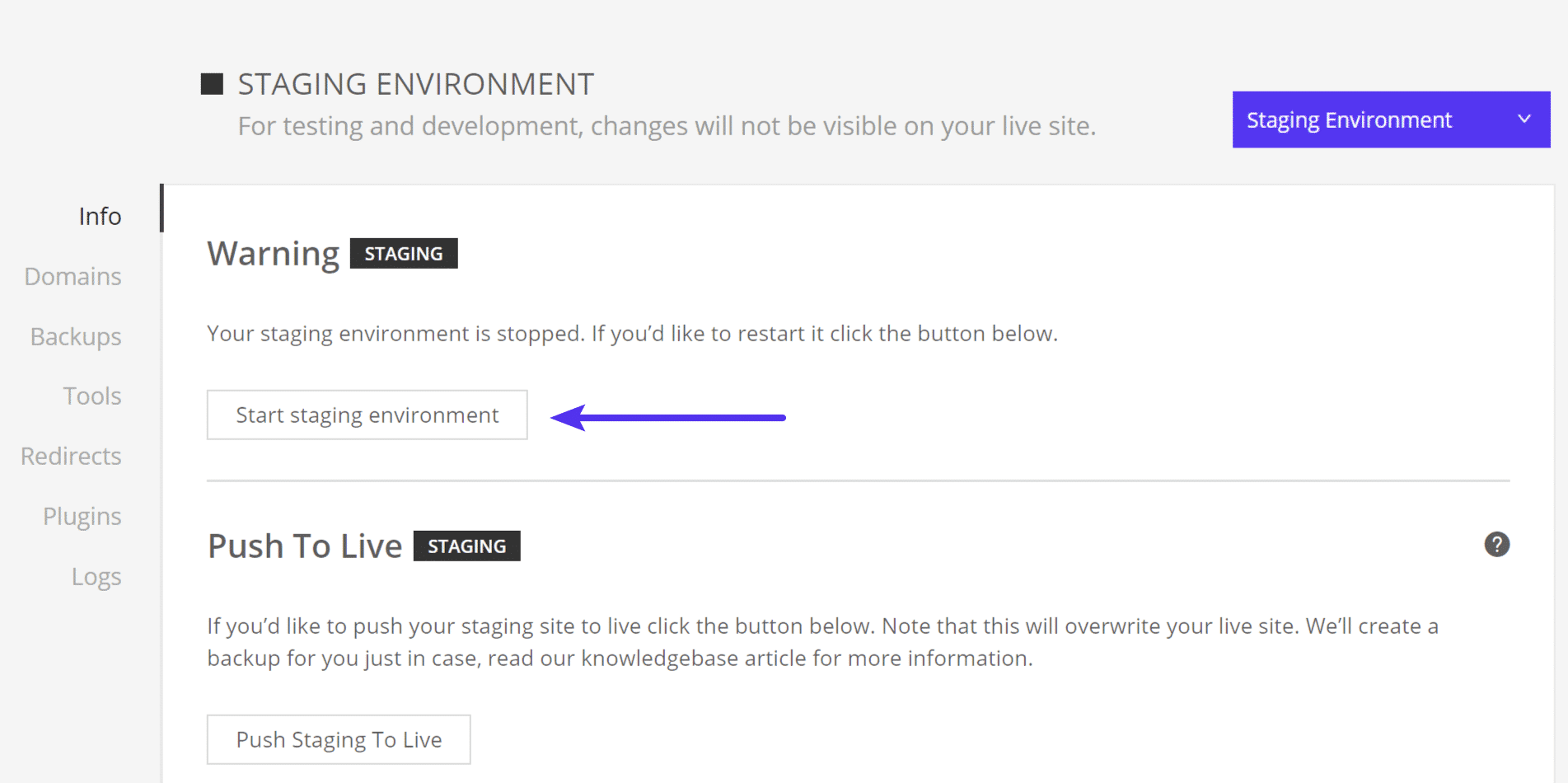 Démarrer l'environnement de développement