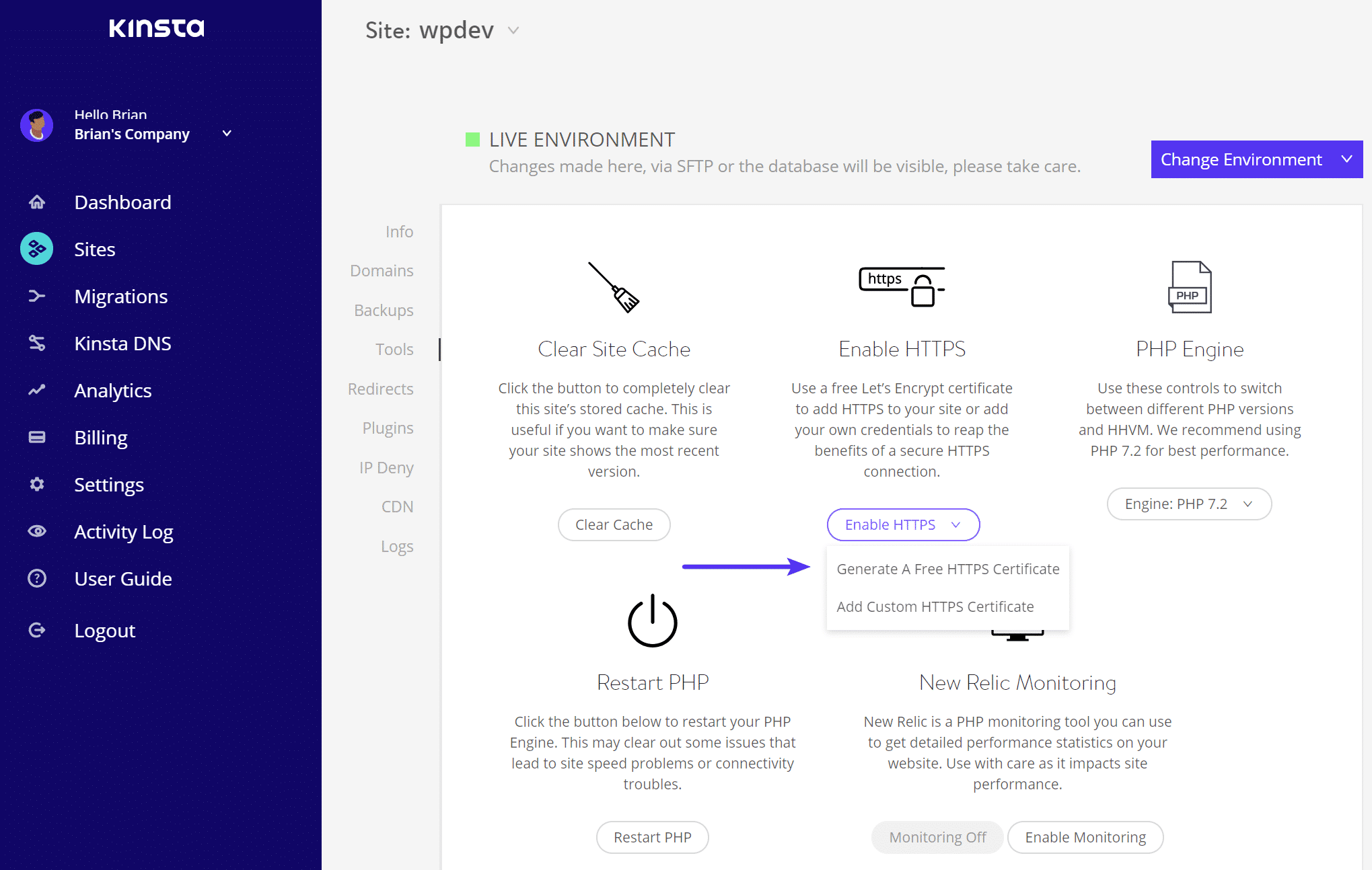 Ajouter un certificat Let's Encrypt