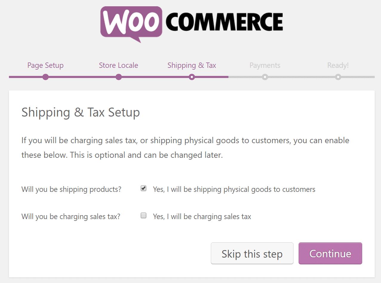 Expédition WooCommerce et configuration des taxes