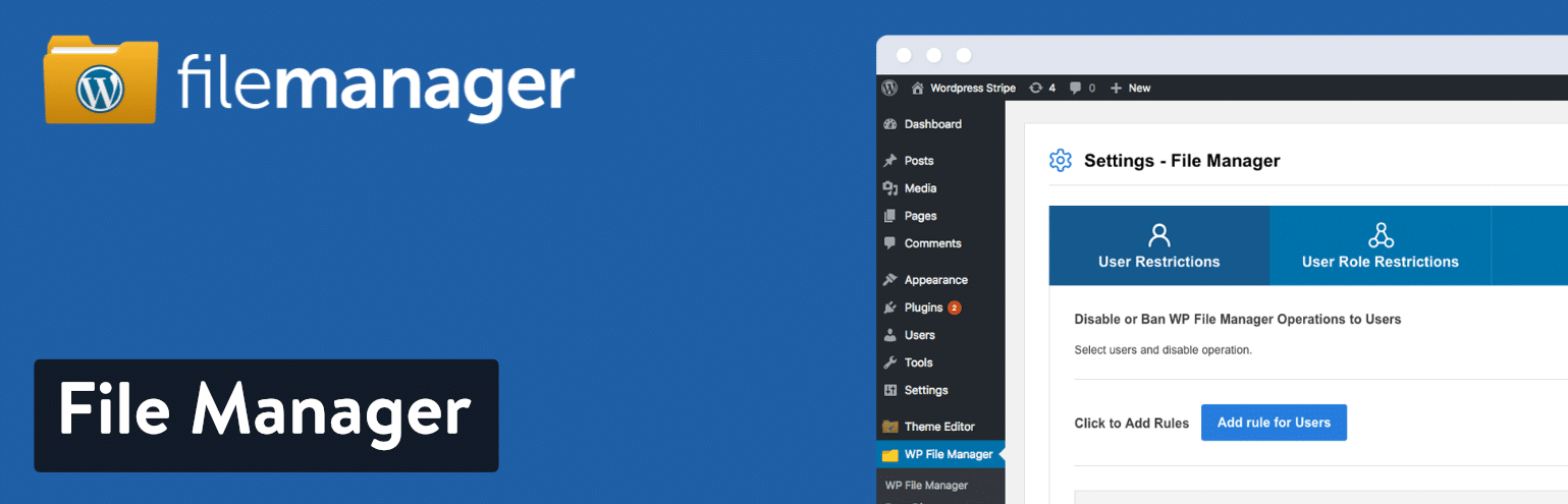 Plugin File Manager WordPress