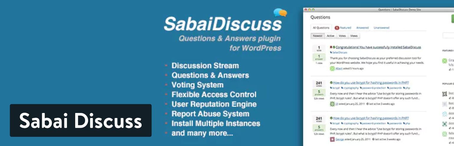 Plugin WordPress Sabai Discuss