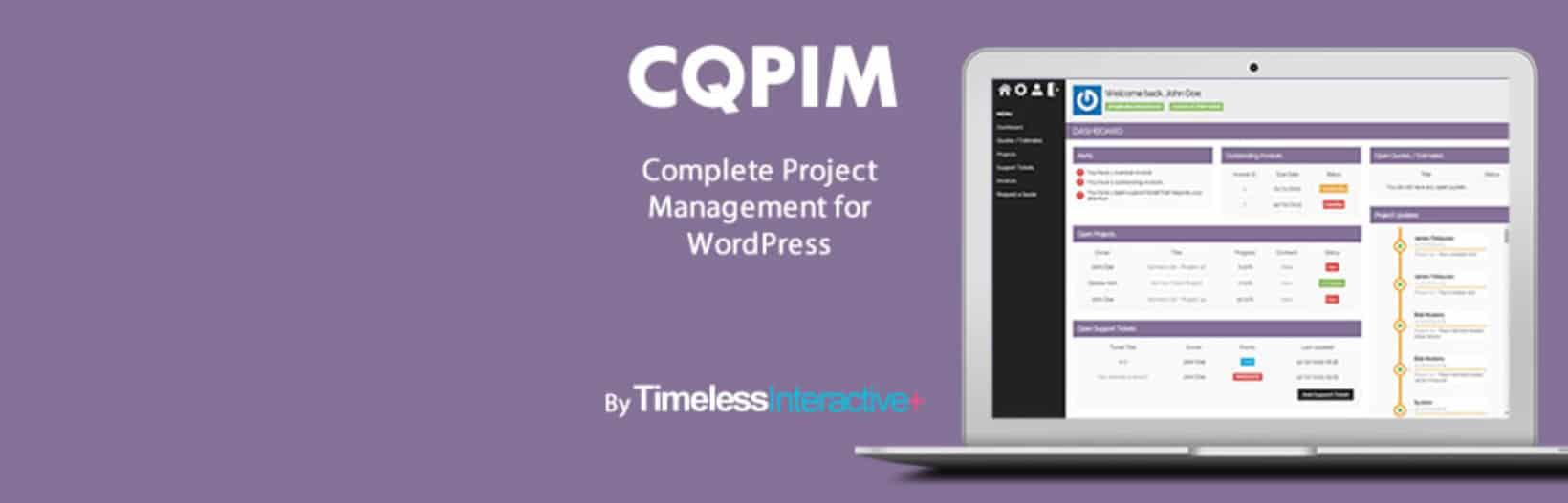 Extension CQPIM Project Management pour WordPress