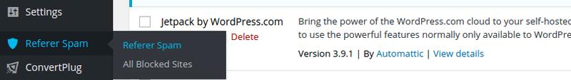 block referral spam plugin settings
