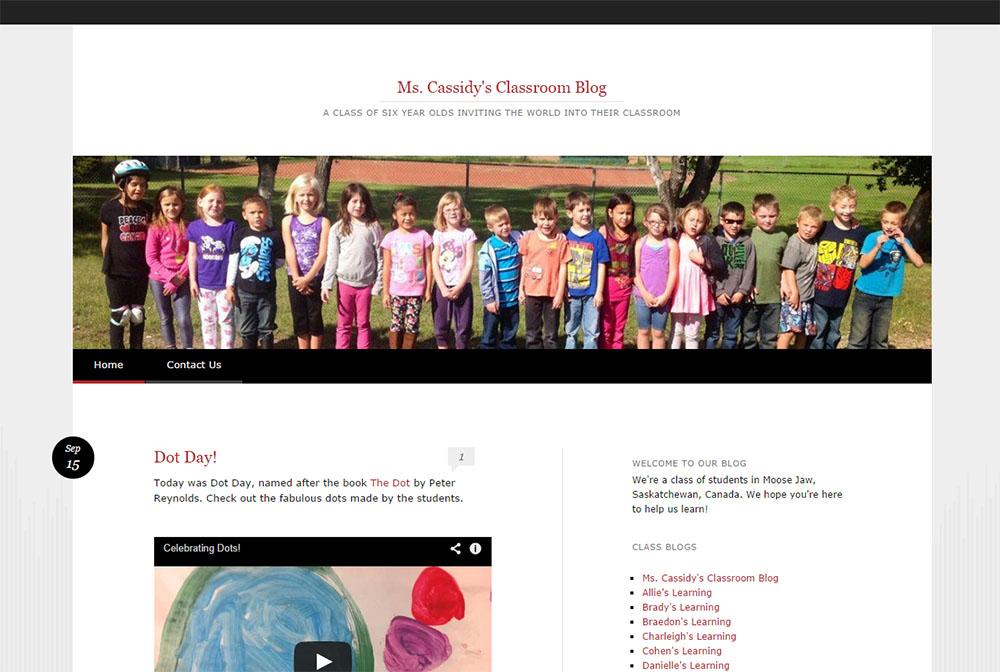 Blog de Mme Cassidy sur la salle de classe