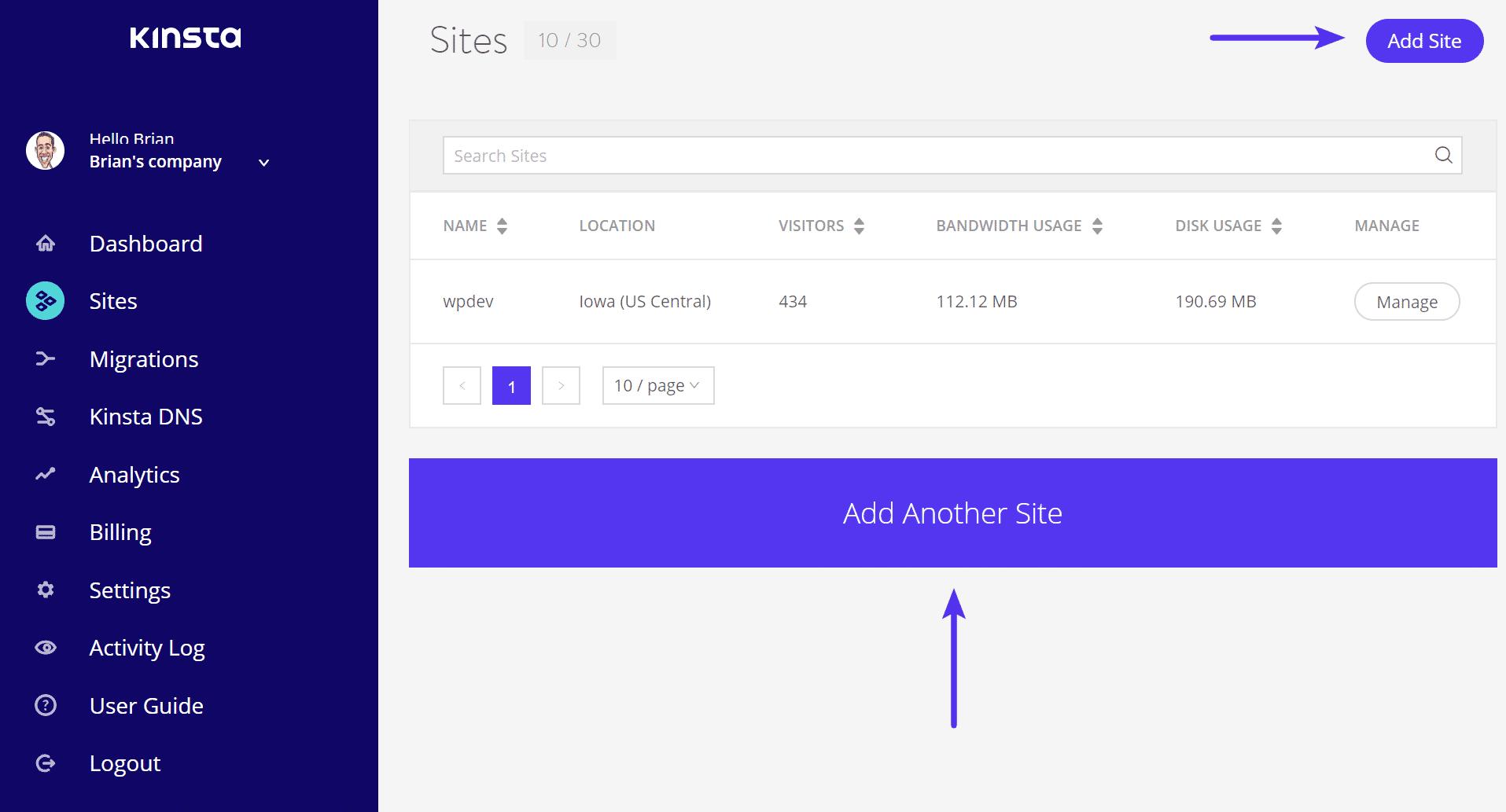 Ajouter un site